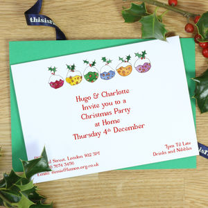 Personalised Christmas Invitations