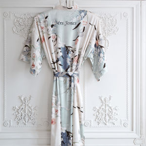 Personalised Bridal Blossom Dressing Gown - gifts for her