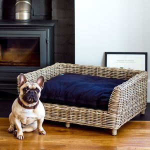 Rattan Dog Bed - dogs