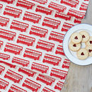 Red London Bus Repeat Tea Towel