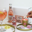 Pink Gin Gift Box With Pink Gin Bottle