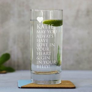 Personalised Message Hiball Glass - drink & barware