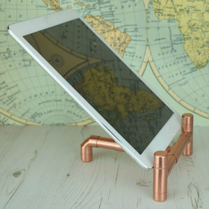 Copper Lean Back Stand For iPad Or Tablet
