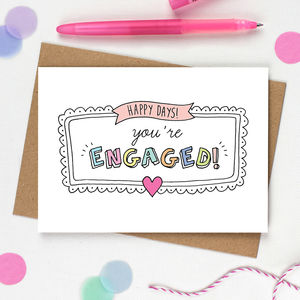 Happy Days Engagement Card