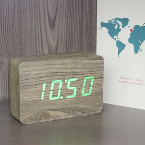 Brick Ash Click Clock - living room