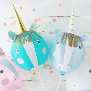 Unicorn Party Balloon Kit - snow globes & ornaments