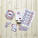 Train Personalised Children's Party Decoration Pack