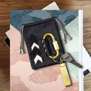 Personalised keyring pouch very genuine cowhide leather with a nail clipper. cool gift for men