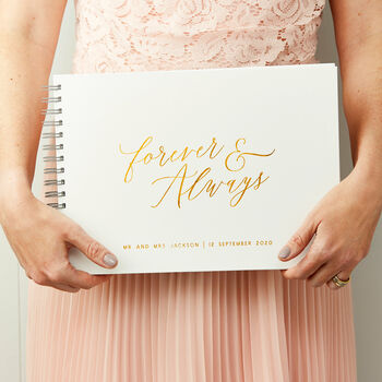 Personalised Forever And Always Guest Book