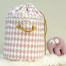 Baobab Pink Diamonds Toy Storage Bag