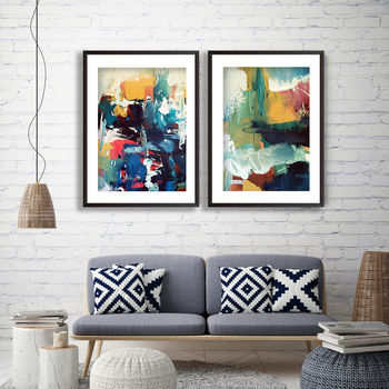 Abstract Art Print Set Abstract Prints