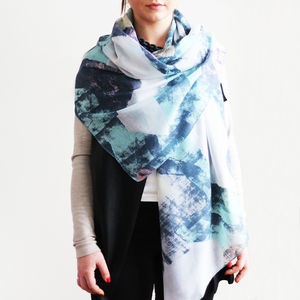 Personalised Abstract Spring Scarf - stylist live collection