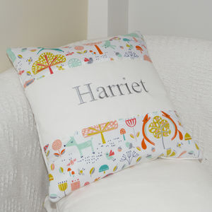 Woodland Name Cushion