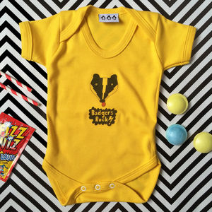 Badgers Rock Babygrow