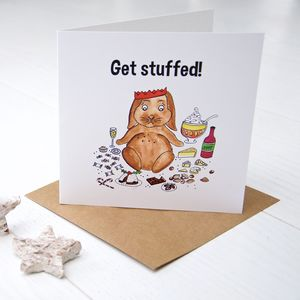 Get Stuffed! Christmas Card - cards