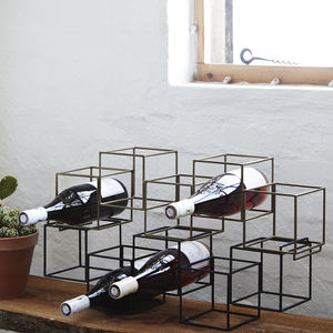 Geometric Wine Bottle Holder - storage & organisers