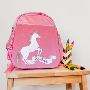 Children's Personalised Unicorn Mini Rucksack