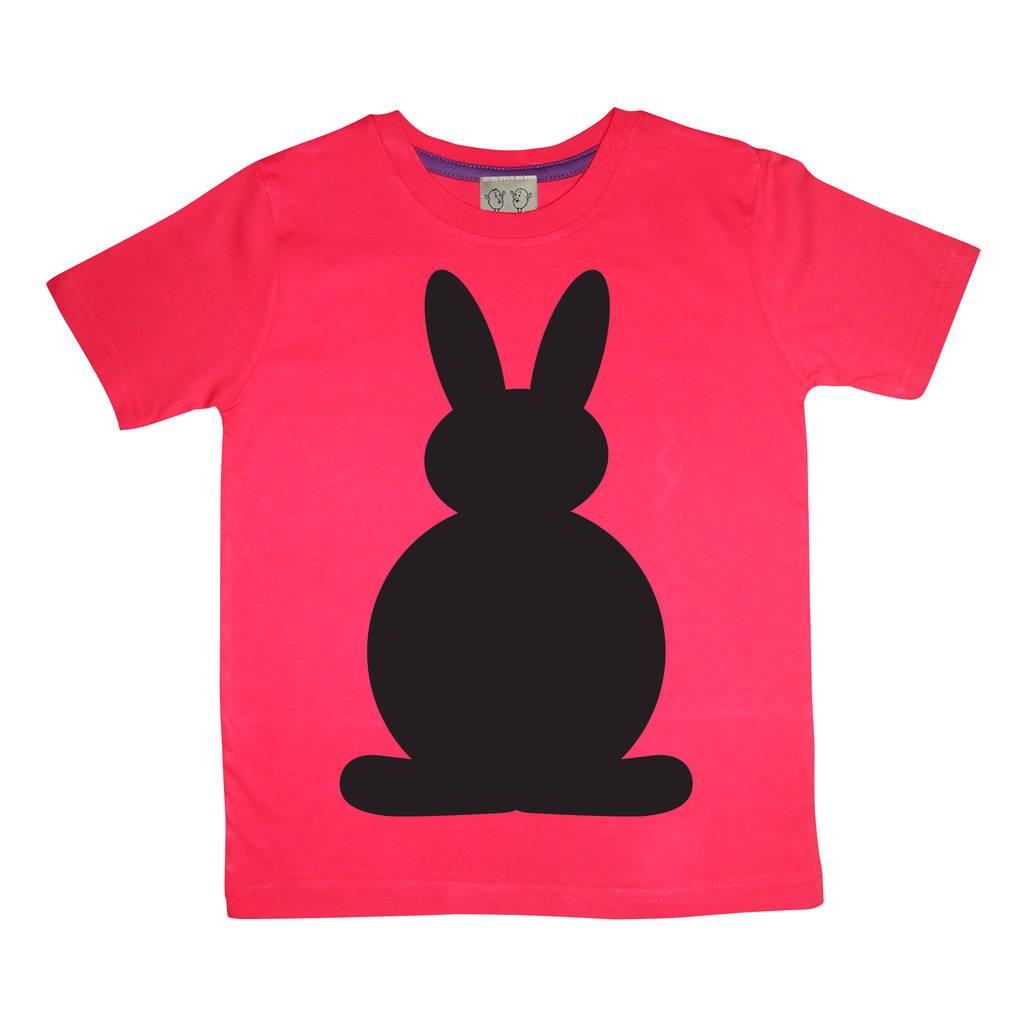 Kids chalkboard t shirt bunny design by little mashers for T shirt design no minimum