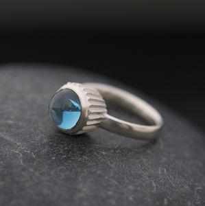 Blue Topaz Cupcake Ring - rings