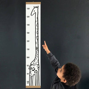 Giraffe Height Chart - baby's room