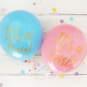 Baby Shower It's A Boy / Girl Balloons - decoration