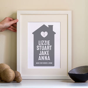 Family Home Print Personalised