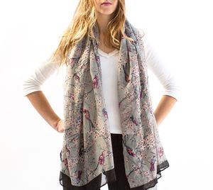 Personalised Or Monogrammed Faded Bird Print Scarf - fashion sale