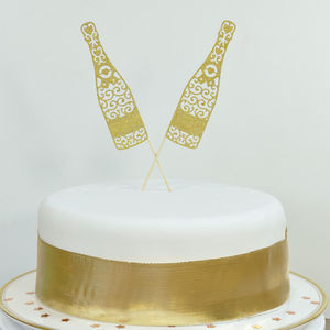 Champagne Bottles Celebration Cake Topper - cake toppers & decorations