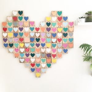 'Heart Of Hearts', Reclaimed Wood Mosaic