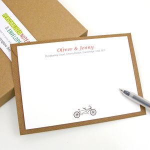 Couple Bike Correspondence Cards