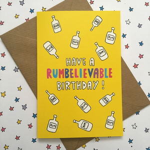 Rum Birthday Card For Rum Lover, Funny Birthday Card - shop by category