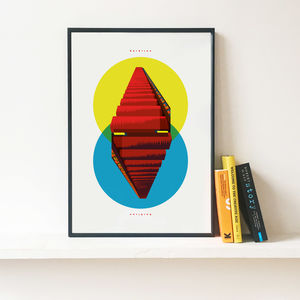 The Barbican Stairway To Heaven Illustrated Poster
