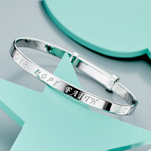 'Faith' Christening Bangle