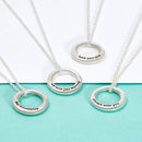 Sterling Silver Secret Message Necklace