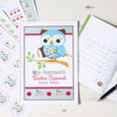 Personalised Thank You Teacher Reward Sticker Album