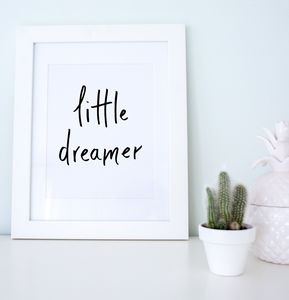 'Little Dreamer' Nursery Artwork Print