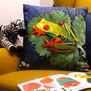 Exotic Tree Frog Tropical Printed Cushion Gift