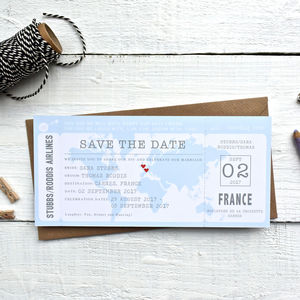 Boarding Pass Map Save The Date