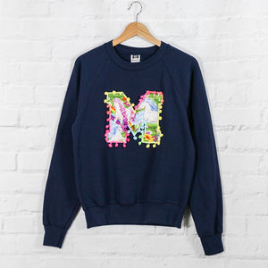 Personalised Sweatshirt With Appliquéd Unicorn Letter - women's fashion