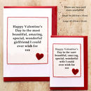 Handmade Valentines Card by Jenny Arnott Cards & Gifts - Available in Two Sizes, Small A6 and Large A5