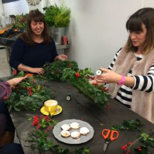 Festive Door Wreath Workshop With Prosecco - experiences