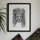 Hand Drawn Monochrome Jungle Leopard Print