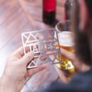 Personalised Stainless Steel Coaster Bottle Opener