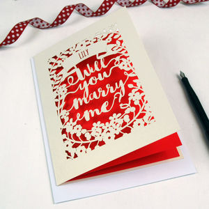 Personalised Papercut Proposal Card