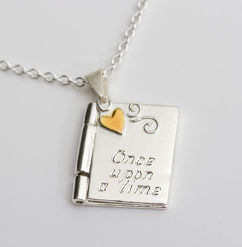 Personalised Gold Heart Book Locket