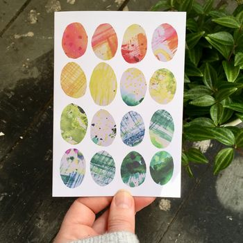 Rainbow Easter Egg Card