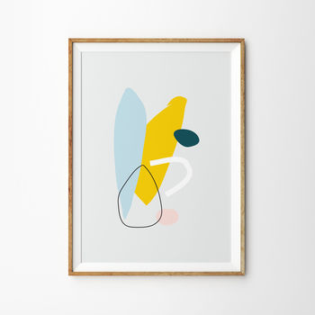 Canary Abstract Art Print