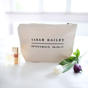 Personalised Bridesmaid Make Up Bag - wedding planning ideas