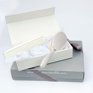 Christening Personalised Silver Plated Brush And Comb - gift sets