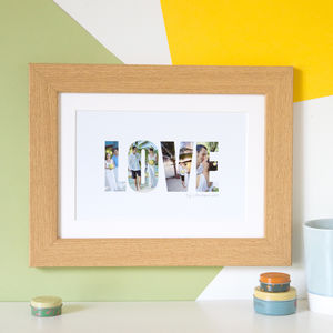 Personalised 'Love' Photograph Print - valentine's gifts for him